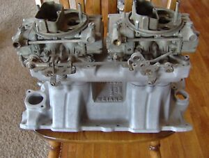 Weiand Small Block Chevy Sbc Tunnel Ram Intake Manifold With Holley Carburetors