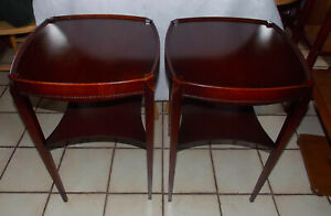 Pair Of Mahogany Mid Century End Tables Side Tables By Guardsman Rp T609