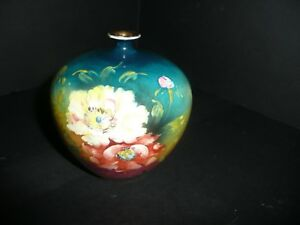 Royal Bonn Vase Franz Mehlem Roses Germany 4 3 4 T