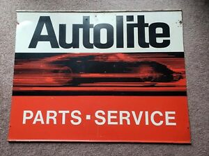 Ford Autolite Sign 1967 Original Gt 40 Dealer Parts Service Boss 429 2 Sided