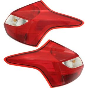 Tail Light Set For 2012 2014 Ford Focus Left And Right Halogen With Bulb 2pc