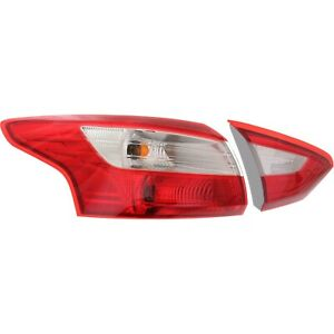Tail Light For 2012 2014 Ford Focus Driver Side Inner And Outer