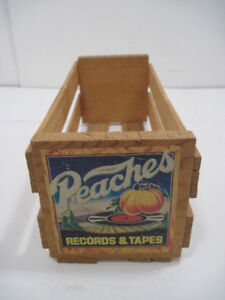 Old Wood Small Peaches Records And Tape Crate Storage Advertisinf 12 X5 X4