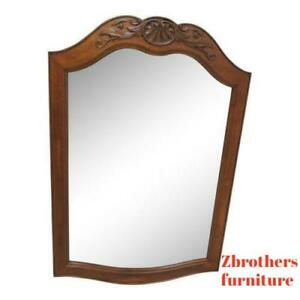 Ethan Allen Country French Carved Dresser Hanging Wall Mirror