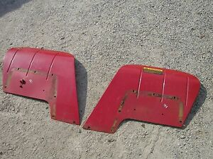 Farmall Cub 184 185 Tractor Ih Pair set Of Excellent Original Ihc Ih Fenders