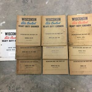 Lot Of 10 Wisconsin Engine Parts Manual Book Instruction Maintenance Guide List