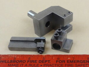 Steel Turret Tool Holder 5 8 Shank Two Tool Holders Cutter Machinist Lathe