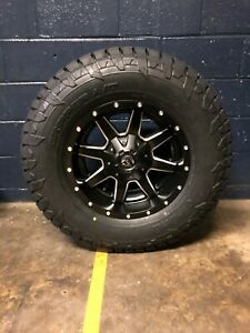 17x9 D538 Fuel Maverick 33 At Wheel And Tire Package 6x5 5 Chevy Silverado 1500