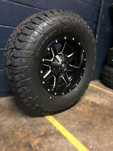 17x9 D538 Fuel Maverick 33 At Wheel And Tire Package Jeep Wrangler Jk Jl Tj