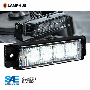 4 4w Led Emergency Vehicle Strobe Grille Light Head Police Firefighter White