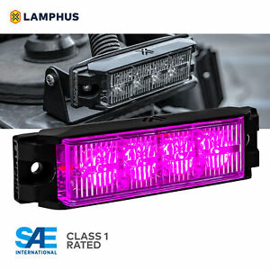 4 4w Led Emergency Vehicle Strobe Grille Light Head Police Firefighter Purple