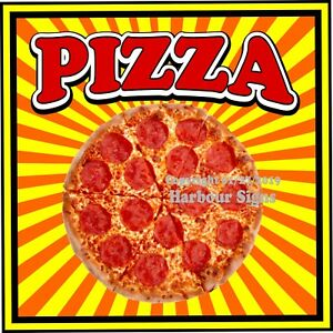 Pizza Decal choose Your Size S Concession Food Truck Vinyl Sign Sticker