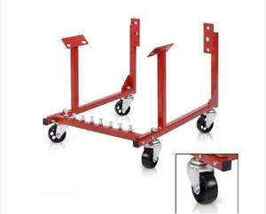 1000lb Auto Engine Cradle Stand For Chevrolet Chevy W Dolly Wheels 3