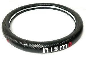 Brand New Nismo Carbon Fiber Steering Wheel Cover Carbon Fiber Decal 14 Inches