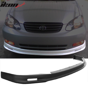 Fits 03 04 Toyota Corolla Mugen Style Front Bumper Lip Spoiler Pp