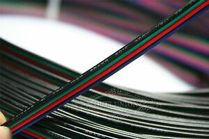 New 100m 4 pin Rgb 22awg Extension Cable Cord Wire Connector Led Strip 3528 5050
