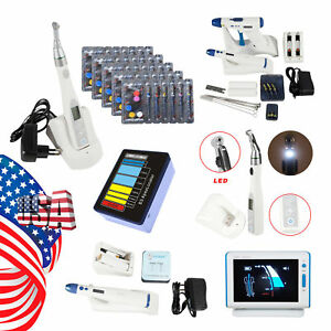 Dental Cordless Led Endo Motor Apex Locator Root Canal Gutta Percha Pen Gun Tips