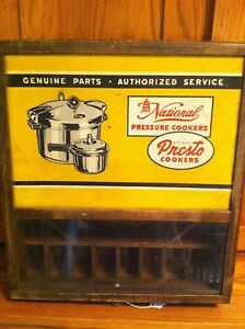 Vintage National Pressure Cookers National Presto Cookers Parts Display Box