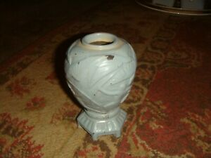Vintage Art Deco Vantines France Metal Footed Vase Jar 1226 4 1 4 Tall