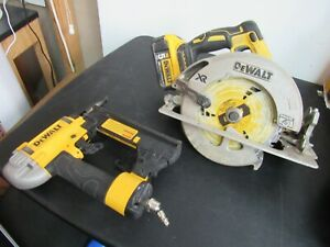 Dewalt Circular Saw Finish Stapler Palm Sander Free Shipping