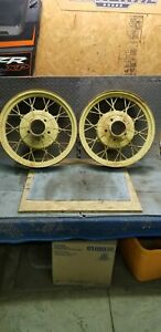 Set Of 2 Matching 1930 31 Model A Ford 19 Wire Wheel Car Rims Hot Rat Rod