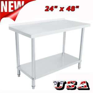 48 X 24 Commercial Stainless Steel Work Table Food Prep Kitchen Restaurant New