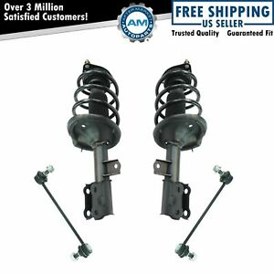 Front Loaded Strut Spring Assembly Sway Bar Link Suspension Kit 4pc For Kia New
