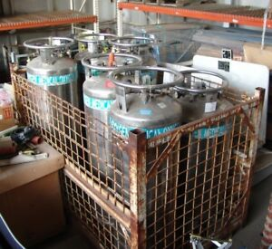 Cryogenic Tanks Oxygen Bar Oxygen Tanks 6 Large Stainless Steel In Crate