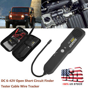 Dc 6 42v Automotive Cable Wire Tracker Open Short Digital Repair Circuit Tester