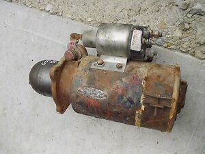 Farmall Ih Ihc 450 400 Diesel Tractor 12v Good Working Starter Assembly