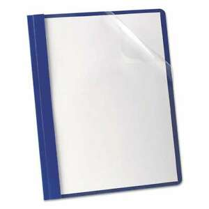 Oxford Premium Paper Clear Front Cover 3 Fasteners Letter Blu 078787588028