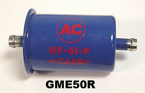 61 66 Ac Gm Chevy Pontiac Gto Gf61p Tripower Carb Fuel Filter Blue Clearance