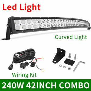 42inch 240w Led Work Combo Flood Spot Light Bar For Jeep Driving Atv 4wd 40