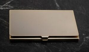 Kathrine Baumann Of Beverly Hills Gold Plated Metal Business Credit Card Case
