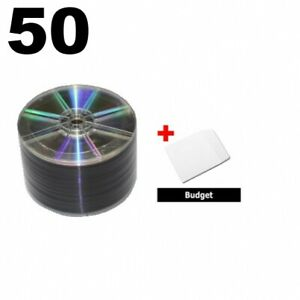 50 Grade A 16x Dvd r 4 7gb Shiny Silver shrink Wrap 100 Paper Sleeves