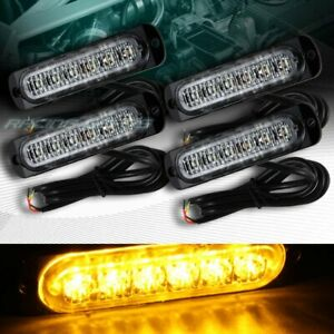 24 Led Amber Car Emergency Beacon Hazard Warning Flash Strobe Light Universal