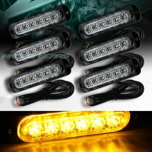 36 Led Amber Car Emergency Beacon Hazard Warning Flash Strobe Light Universal