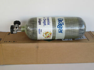 Drager 4500psi Scba Tank 45 Minute Carbon Wrapped Unused 2008 Mfg Date 65 5 Scf