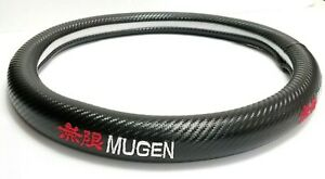 Brand New Mugen Carbon Fiber Steering Wheel Cover Carbon Fiber Decal 14 Inches