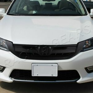 Fit 2013 2015 Honda Accord Sedan Modul Style Matt Black Abs Front Grille Grill