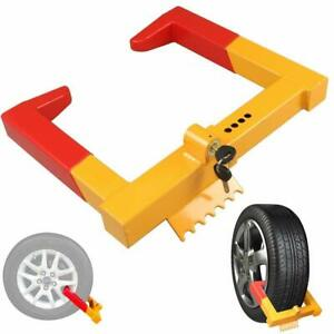 Wheel Lock Clamp Boot Tire Claw Trailer Car Truck Anti Theft Towing Lock Alyh