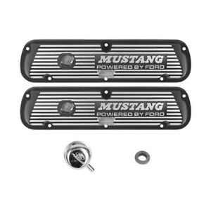 Ford Performance Black Aluminum Valve Covers Mustang By Ford Logo 289 302 351w