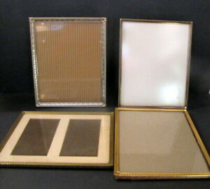 Vintage Lot 4 Ornate Metal Gold Silver Picture Photo Frames 8 In X 10 In