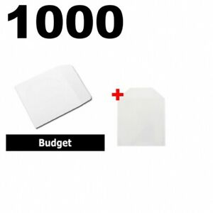 1000 Budget Paper Cd Sleeves With Window Flap 1000 6 25x5 75 Cpp Sleeves