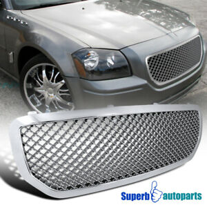 2005 2007 Dodge Magnum Abs Mesh Front Hood Grille Chrome