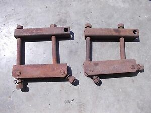 Farmall Sh Sm Mta 400 350 460 Tractor Pair Ih Ihc Drawbar Draw Bar Axle Brackets
