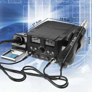 120l min Air Flow 2in1 Hot Air Heater And Welding Iron Rework Soldering Station