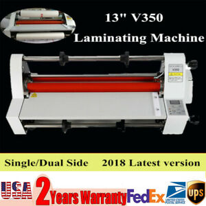 110v 700w V350 13 350mm Electronic Temperature Control Hot Cold Roll Laminator