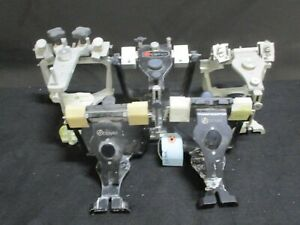 Lot Of 5 Denar Dental Laboratory Articulators For Occlusal Plane Analysis