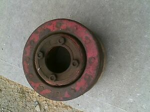 Farmall H Sh 300 350 460 Tractor Orignal Ih Paper Belt Pulley Real Nice W Bolts